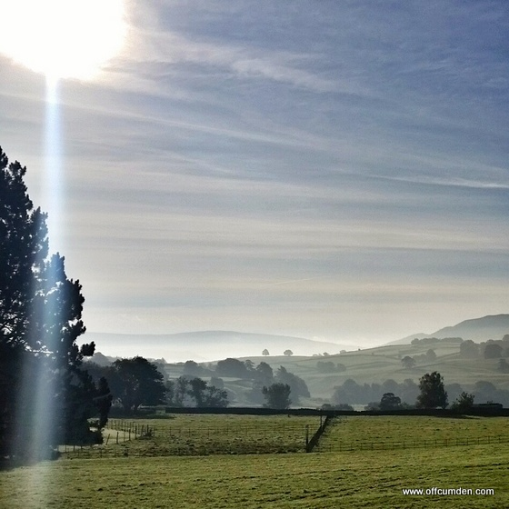 Yorkshire Dales sunflare