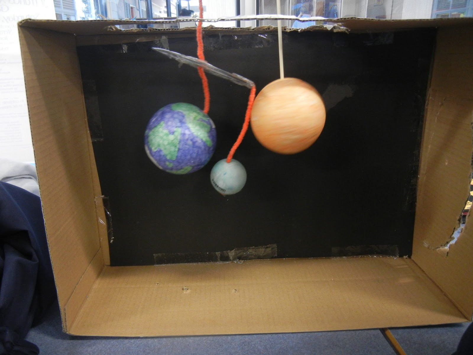 Diorama of Earth Sun Moon - Pics about space