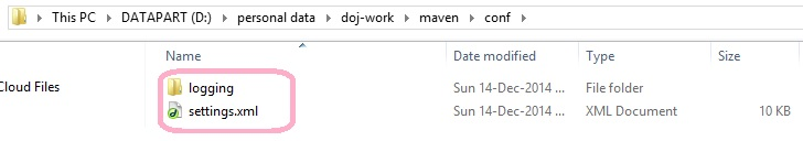 Maven Settings File