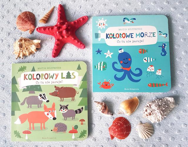 """Nastja Holtfreter -  """"Kolorowe Morze. Co tu nie pasuje ?""""  - """"Kolorowy las. Co tu nie pasuje ?"""" - Nasza Księgarnia - książeczki dla dzieci"""