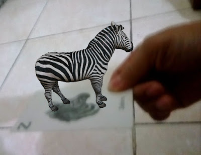 Augmented Reality Gambar Zebra