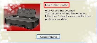 Cara Mengatasi Error 5200 Pada Printer Canon IP2770