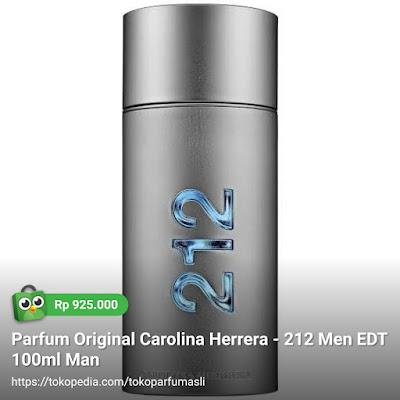 toko parfum asli parfum original carolina hererra 212 men edt 100ml man