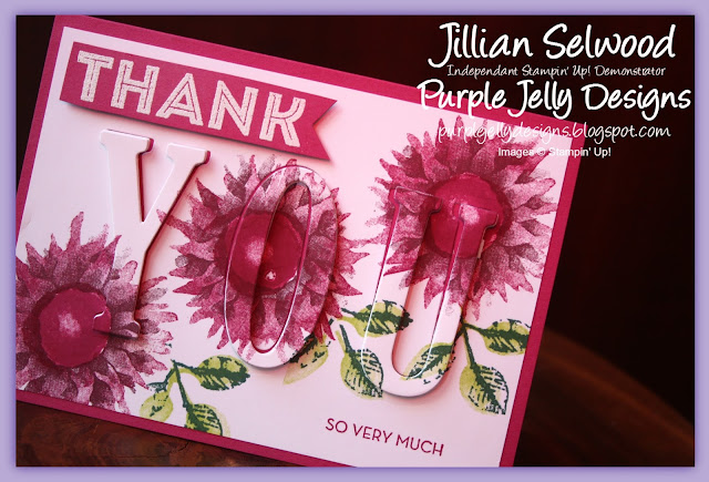 Painted Harvest Eclipse Thank you card, One big meaning stamp set