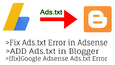 fix ads.txt adsense blogger