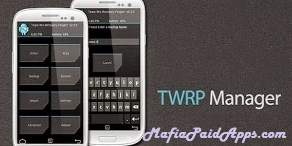 TWRP Manager FULL (ROOT) v7 4 5 | MafiaPaidApps com | Download Full