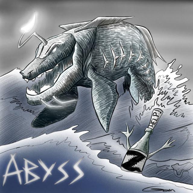 grois poisson lumieux pour la bière Abyss