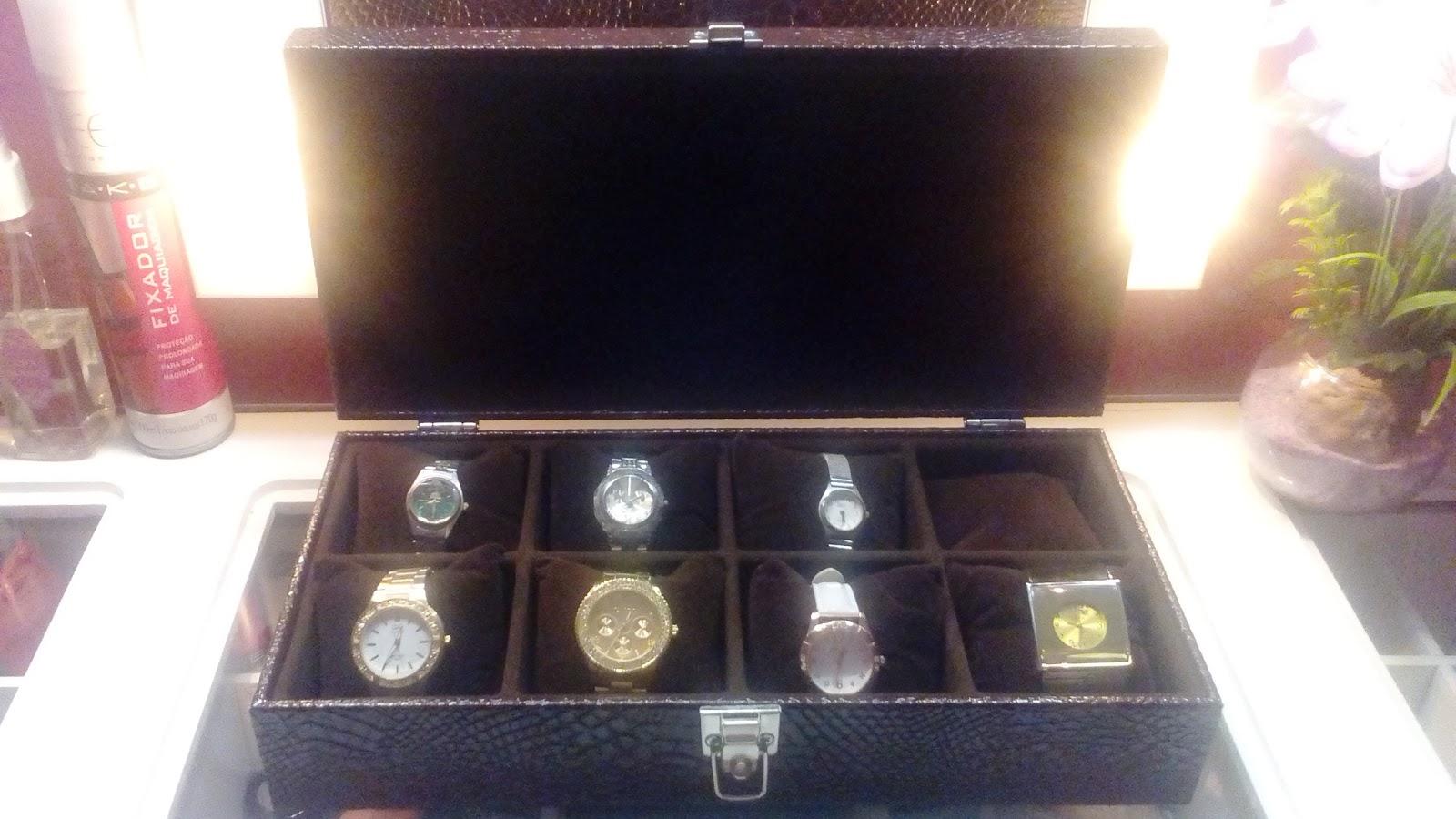 488d83e54 Joice Makeup  Caixa Porta-Relógios Valentine Semi-Jóias!