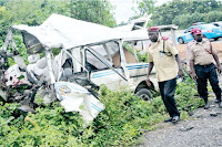 FOUR FEARED DEAD AS TRUCK PUSHES BUS INTO RIVER IN OGUN