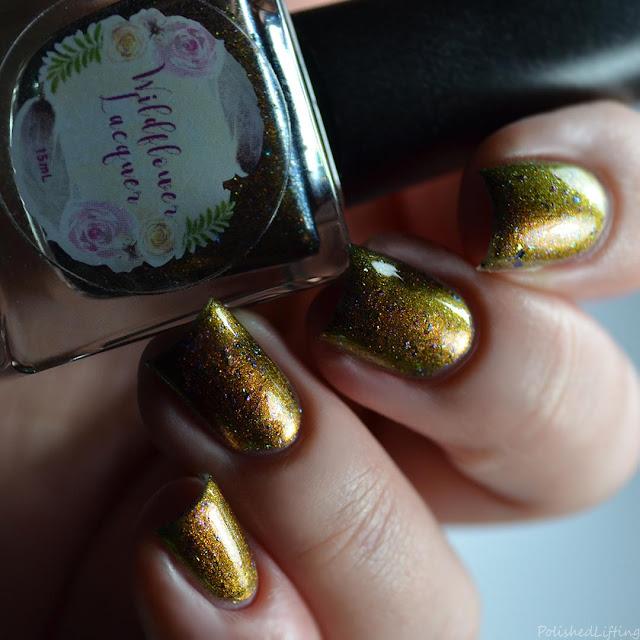 brown multichrome nail polish