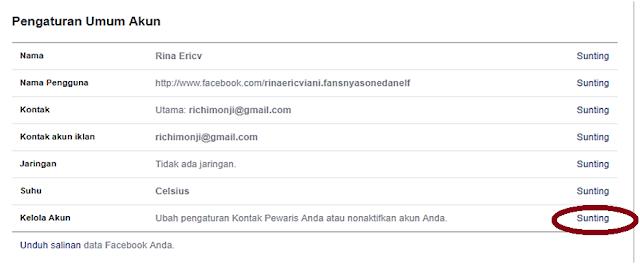 Pengaturan Umum Akun Facebook