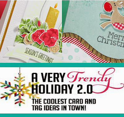 A Very Trendy Holiday 2.0 Card Class StampNation with Allison Cope