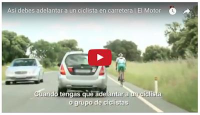Adelanta bien a un ciclista