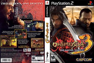 Jogo Onimusha 3 - Demon Siege PS2 DVD Capa