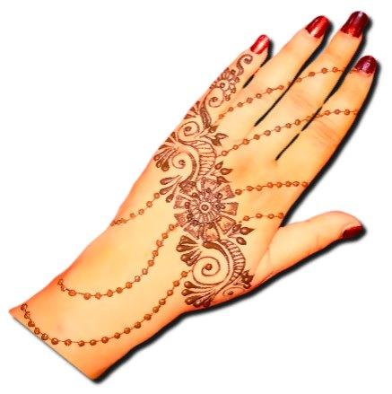 Flower Back Hand Beautiful Henna