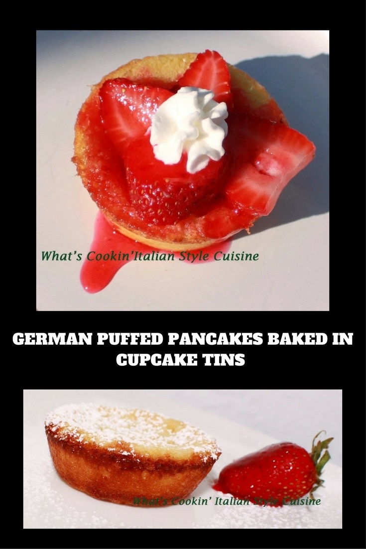 baked mini pancakes also known as Dutch baby, German Pancakes and these are mini version