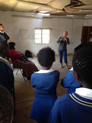 Jill Kemp performing at Keiskamma in South Africa