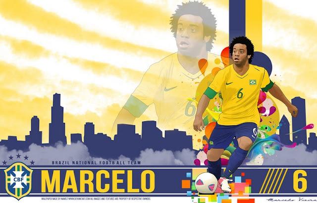 Marcelo 2015 Copa America Brazil Wallpaper