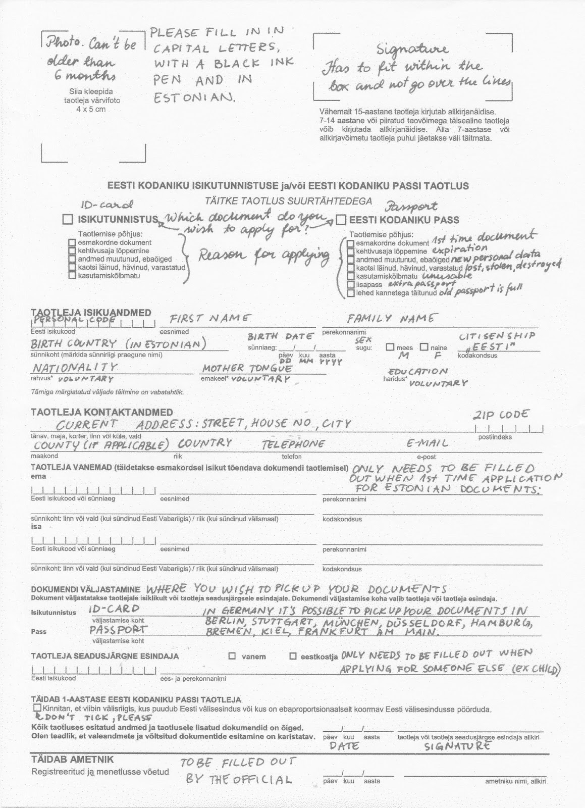Estonia paradise of the north how to fill out an estonian sample form falaconquin