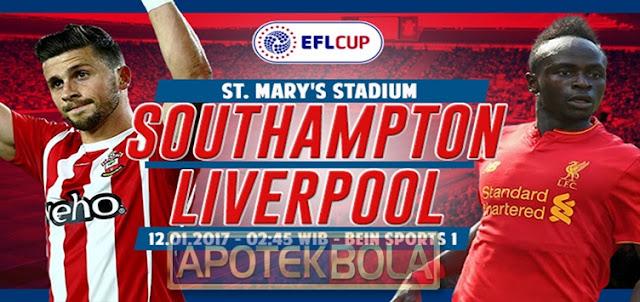 Prediksi Pertandingan - Southampton vs Liverpool 12 Januari 2017