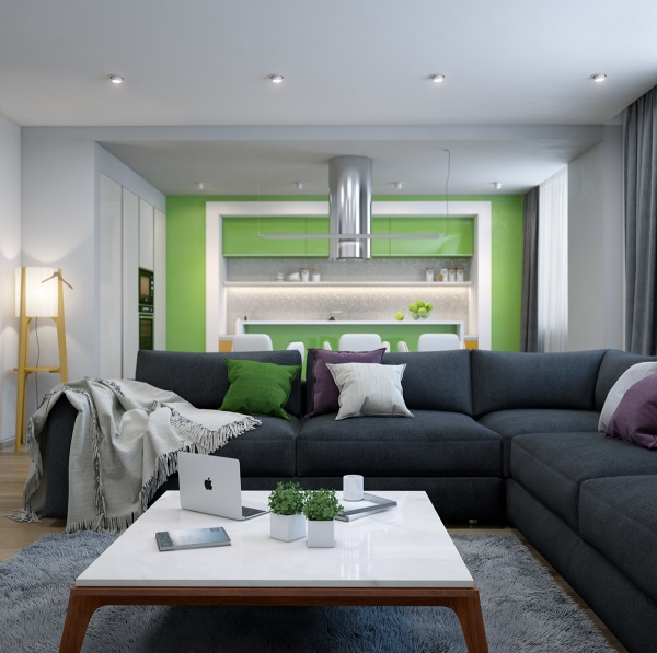wohnzimmer farben grau grün | minimalistische haus design - Wohnzimmer Grun Grau
