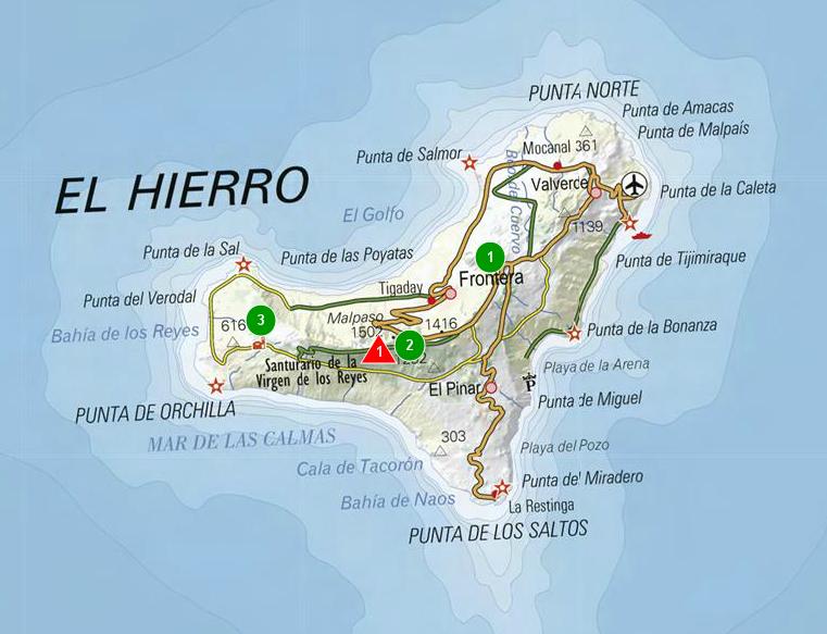Mapa De El Hierro.Sendas De Burgos Mapa De La Isla De El Hierro