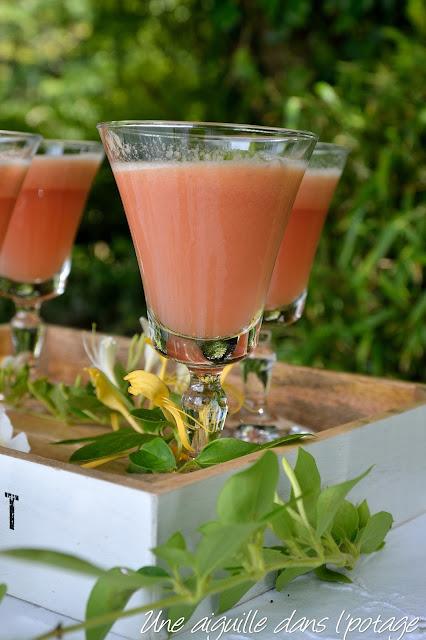 Thé glacé melon-fraises-gingembre ice tea