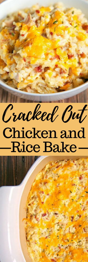 Cracked Out Chicken and Rice Bake #quickrecipe #dinner