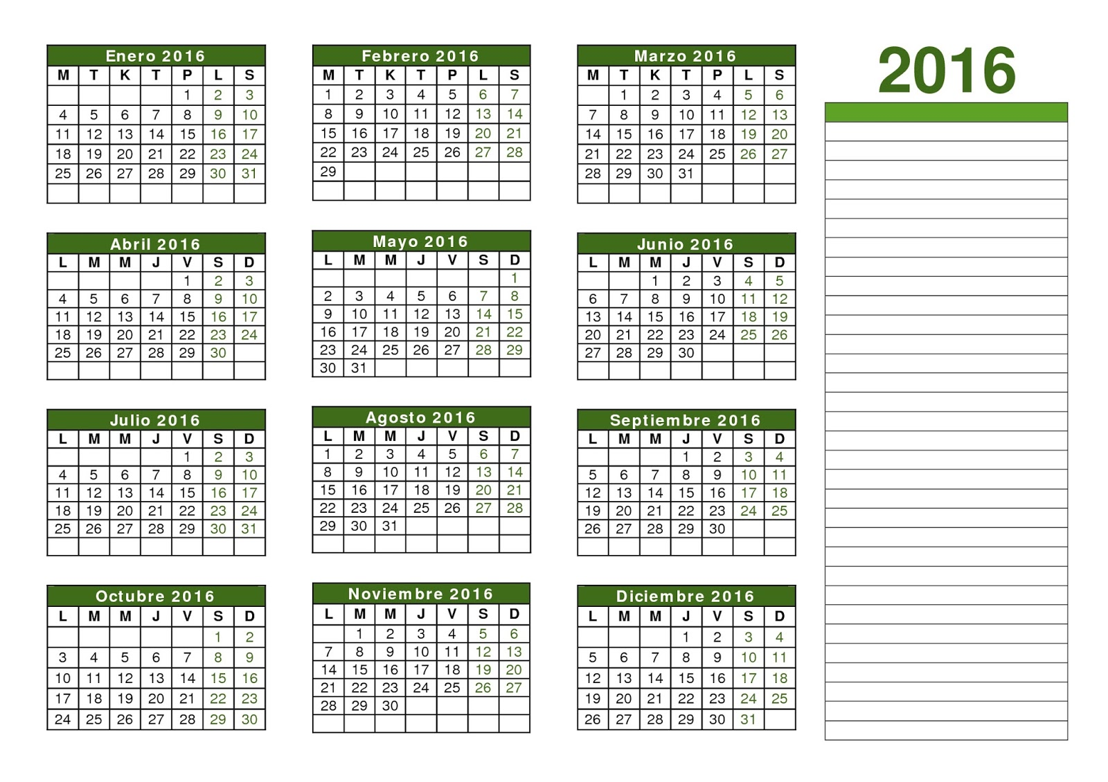 Calendario Con Festivita.Calendario Calendario 2016 Con Festivita E Ponti Da
