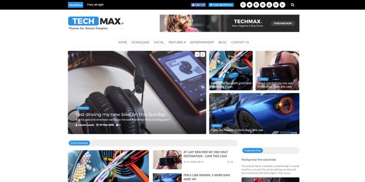techmax blogger template 2018