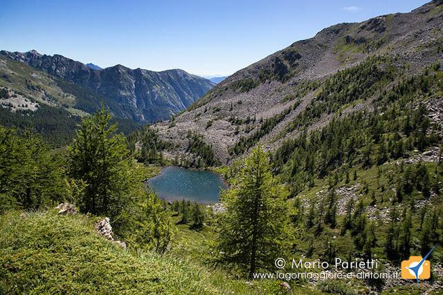 Lago di ragozza dall'alto
