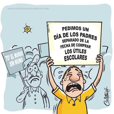 Caricatura: Cambio del día de los Padres