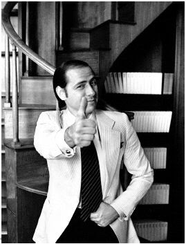 Silvio Berlusconi thumb up in a photo from the 70s