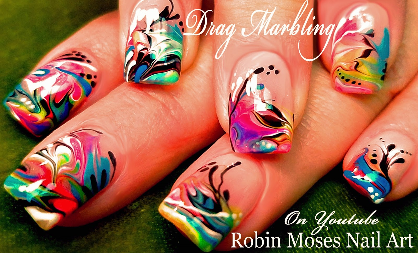 No Water Needed  Marble nail art Tutorial