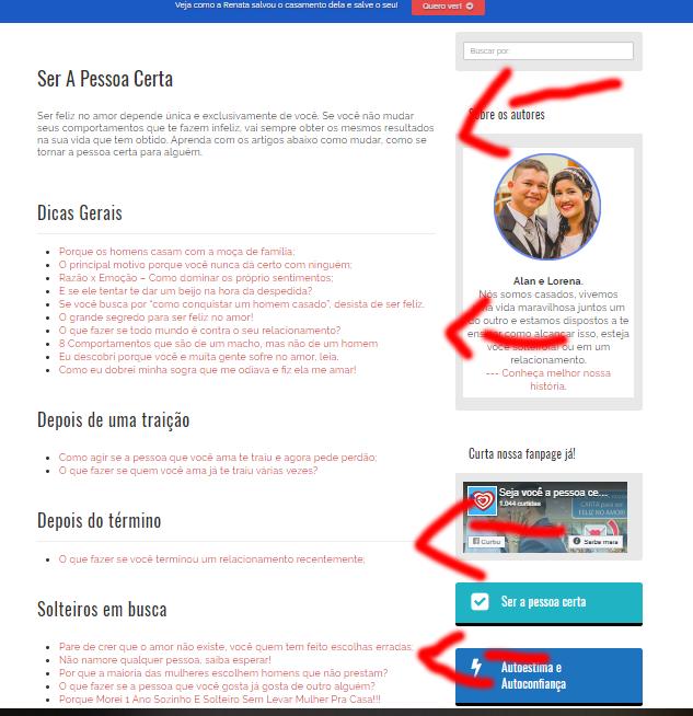 otimização das categorias de um blog