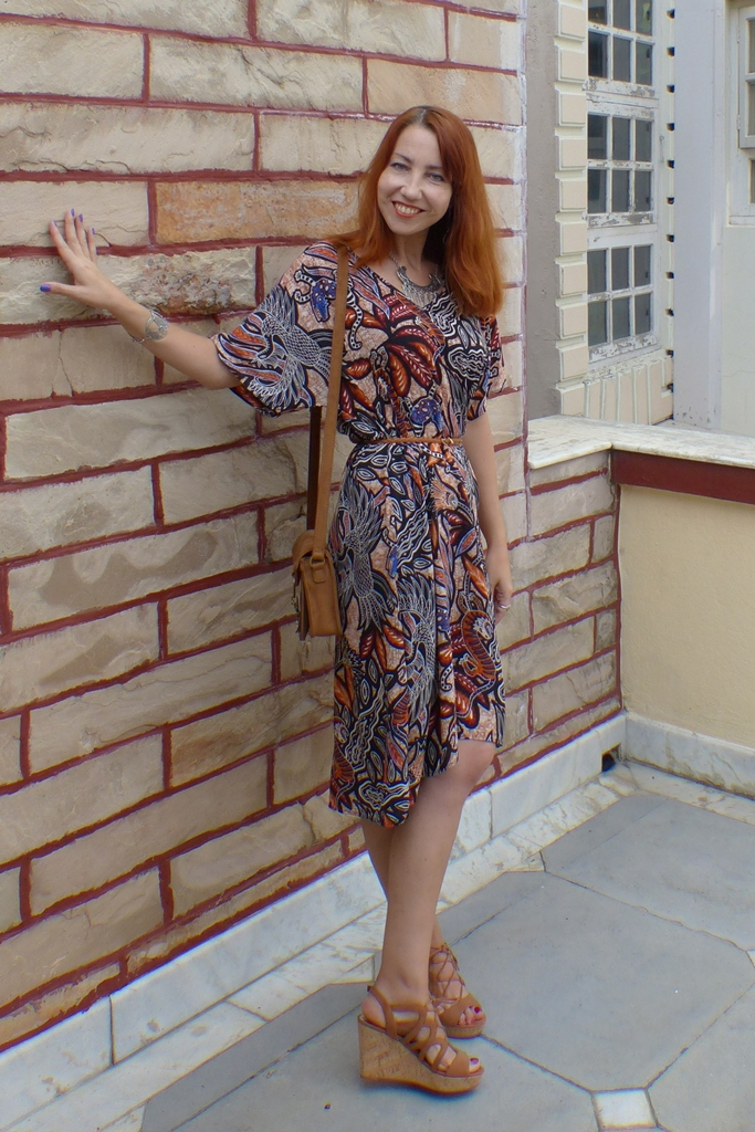 Mystical creatures h&m dress, suede bad and shoes, ethnic style jewelry