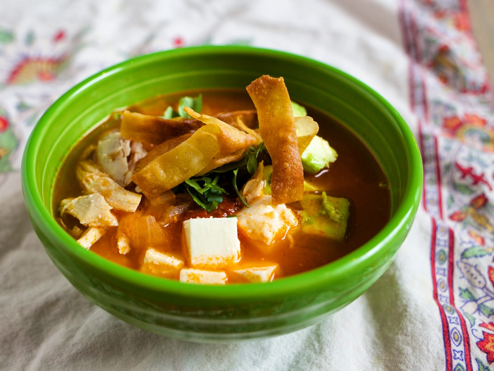 Pressure Cooker Tortilla Soup (Sopa de Tortilla) | Dad Cooks Dinner