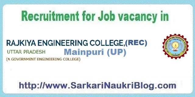 Naukri Vacancy Recruitment REC Mainpuri