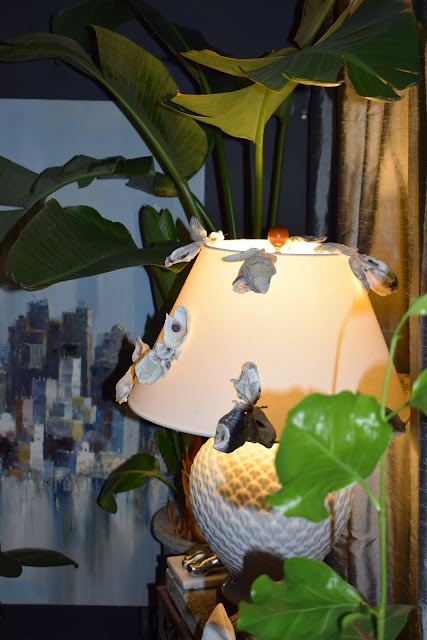 re purposing a lampshade with seasonal decor ideas.