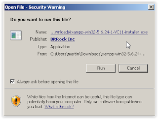 Open File - Security Warning Dialog Box