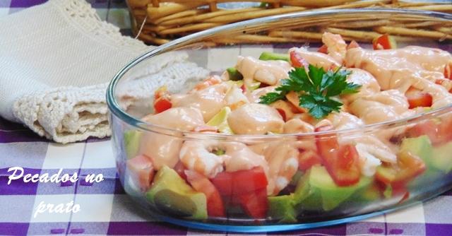 Receita de salada de abacate simples