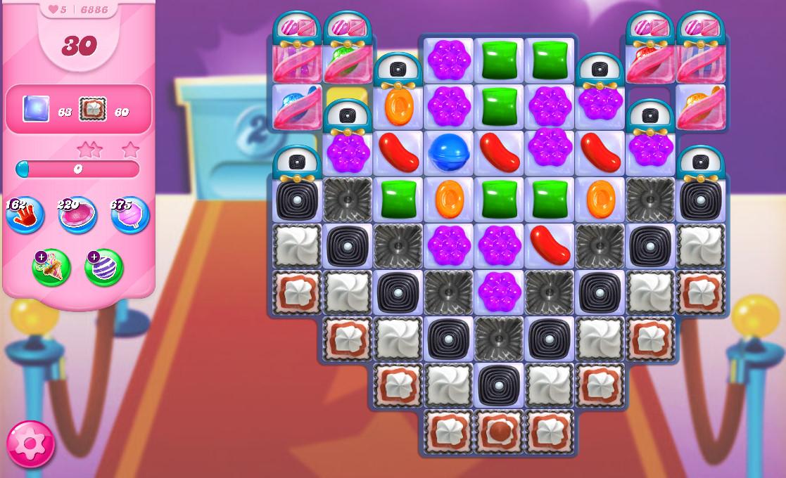 Candy Crush Saga level 6886