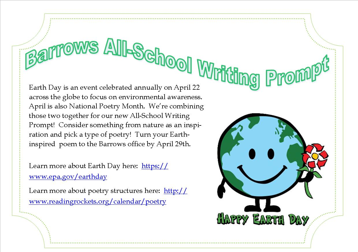 Barrows Elementary Principal Blog Vacation Earth Day