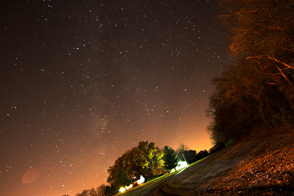 Milky Way, just after sunset, 6:27 CST, 14mm, 80 second exposure (Source: Palmia Observatory)