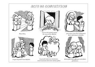 ACTE DE CONTRITION A COLORIER