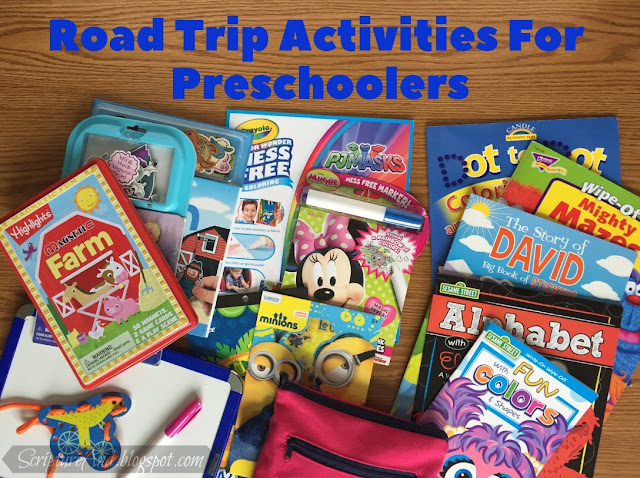 Road Trip Activities For Preschoolers | scriptureand.blogspot.com