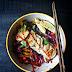 Vegan Thai Basil Vegetable Nasoya Dumplings With Colorful Slaw