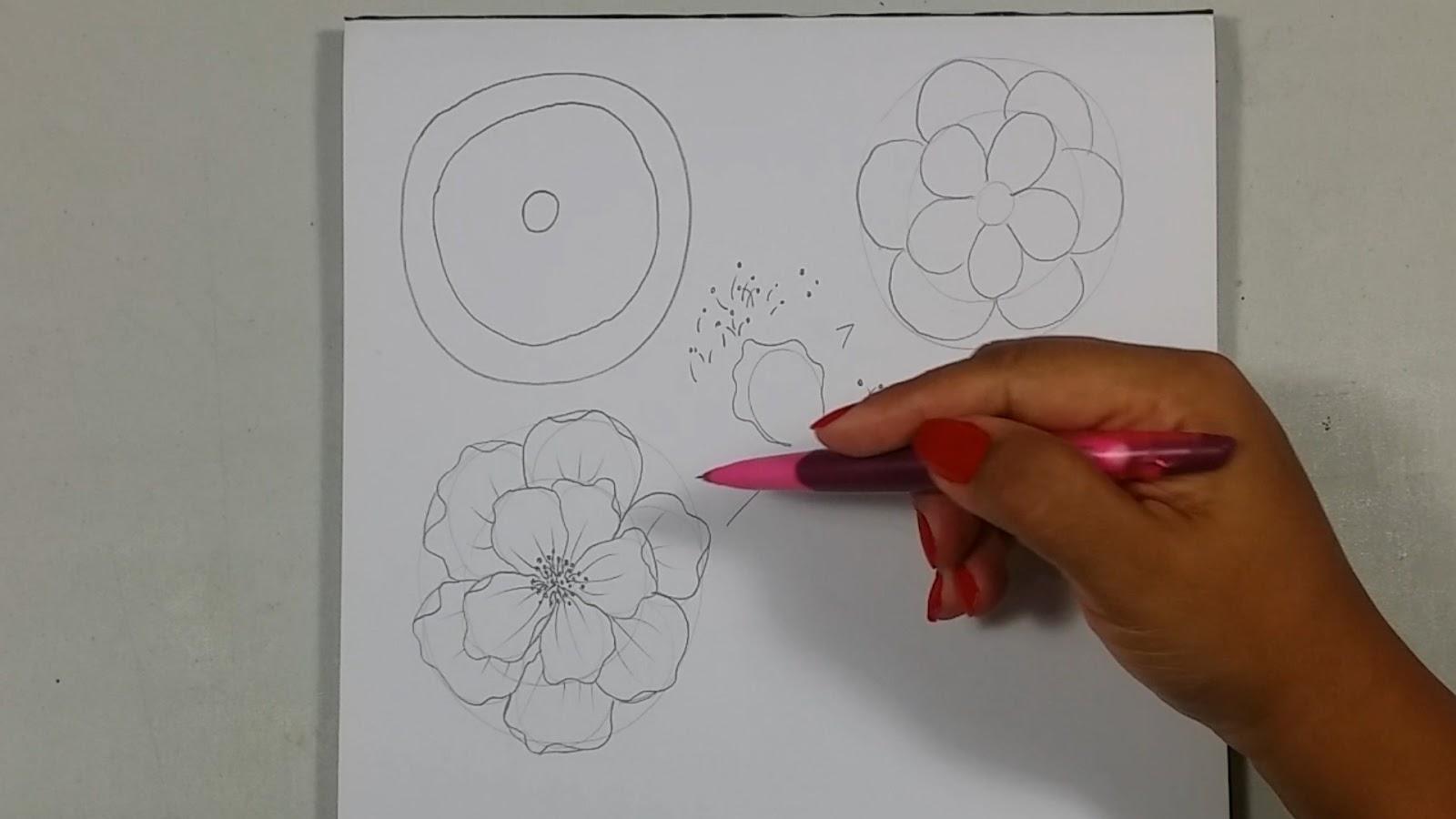Dibujando Con Delein Como Hacer Una Libreta De Dibujo: Dibujando Con Delein: Como Dibujar Una Flor Paso A Paso