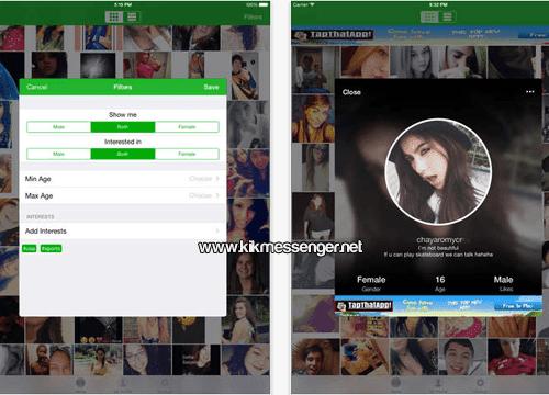Encuentra chicas y chicos con KK Friends Kik for iPad
