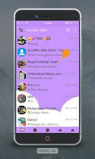 BBM New Parallax Purple MOD Terbaru NO FC v3.0.1.25